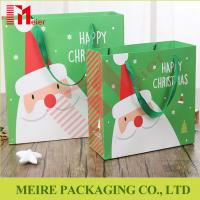Wholesale Christmas Santa Claus Handle Paper Gift Bag Cookie Candy Bag Xmas Party Festival from china suppliers