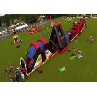 Wholesale Outdoor Inflatable Obstacle Course , Full Challenge Adult Outdoor Obstacle Course from china suppliers