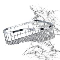 Wholesale Bathroom Accessory Corner Basket Shelf Stainless Steel Easy Installation from china suppliers