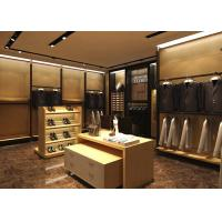 Wholesale Wood Grain Clothing Display Case Beige Coating Color For Men Suit Store from china suppliers