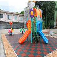 China Recycled Outdoor Rubber Mats , 12-50mm Thickness Rubber Gym Flooring Tiles on sale