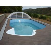China Durable Skidproof WPC Deck Flooring Material For Swimming Pool 90mm - 250mm on sale
