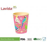 Wholesale Biodegradable Durable Bamboo Fibre Coffee Cup Nature Pattern With Handrwan from china suppliers