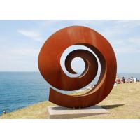 Wholesale Weather Resistant Facete Corten Steel Sculpture 2.5mm Thickness / 180cm Height from china suppliers