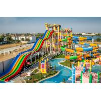 Buy cheap Cambodia 15,000 M2 Family  Fiberglass Water Slide Water Palyground Water Park Slide from wholesalers