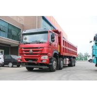 Wholesale Sinotruk Howo 8x4 380hp 12 Wheel Dump Truck 25 Cubic Meters With Good Fuction ,In Red Color from china suppliers