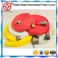 Wholesale Water proof 4 1/2  inch corlorful flexible lay flat synthetic rubber firefighter hose made in China from china suppliers