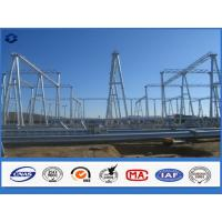 Wholesale Hot Dip Galvanized Steel Electrical Substation Structure Pole with Flange from china suppliers