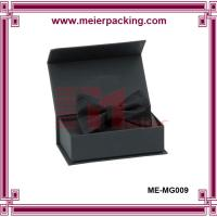 Wholesale eco-friendly black matte lamination paper magnetic box with bow ME-MG009 from china suppliers