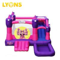 Wholesale Small Bounce Castle Jump and Slide Pink Bouncer House PVC Plato Tarpaulin 4*4*4m from china suppliers