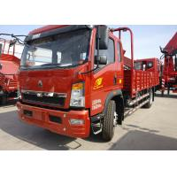 Buy cheap Red 6 Wheels HOWO Light Duty Trucks Made Of High Strength Steel 115HP from wholesalers