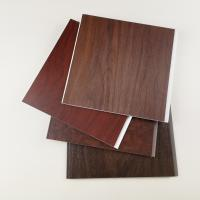 China Dark Wooden Color PVC Wall Panels , Pvc Wall Cladding For Hotel Or Home for sale