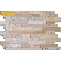 Wholesale irregular Strip Water Proof SeaShell Mosaic Tile Mix Stone and Crystal For Kitchen from china suppliers