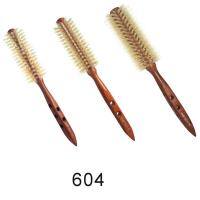 12s,14s,16s Ionic Wood Natural Bristle Round Hair Styling Brushes for sale