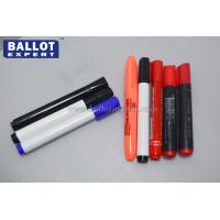 Quality Printed Colored Indelible Ink Pens Plastic With Fibre Tip Fast Dry for sale
