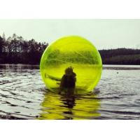 Wholesale Yellow / Blue Giant Inflatable Water Toys Human Water Bubble Ball from china suppliers