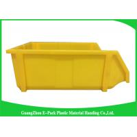 China Commercial Stackable Bins With Hinged Lids , Heavy Duty Warehouse Storage Containers on sale