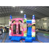 Wholesale Pink Princess Large Dora Inflatable Bounce House Commercial With Digital Printing from china suppliers
