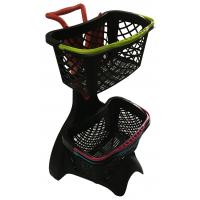 Buy cheap 580x480x980 Plastic Shopping Basket Trolley With 3 Inch TAPE Wheel from wholesalers