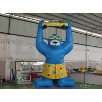Wholesale Giant Inflatable Cartoon , PVC Tarpaulin Inflatable Gorila for Advertising from china suppliers