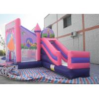 Wholesale Kids 3 In 1 Combo Bounce House , Pink Princess Bouncy Castle With Slide from china suppliers