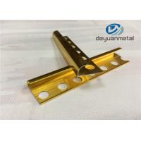 Wholesale 6063 T5 Aluminium Edging Strip / Metal Edging Strip With Polishing Golden from china suppliers