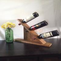 Wholesale MDF Countertop Display Shelves Wooden Wine Bottle Holder DIY Gift from china suppliers