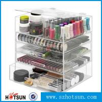 Wholesale NEW! DELUXE MAKEUP ORGANIZER - ACRYLIC 5 TIER DRAWER COSMETIC DISPLAY CASE from china suppliers