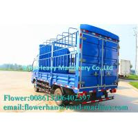 Wholesale HOWO Light Duty Commercial Trucks / Mini Stake Cargo Truck Blue minivan truck from china suppliers