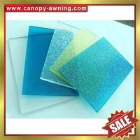 Buy cheap high quality solid polycarbonate roofing PC sheet sheeting for building and greenhouse project from wholesalers