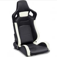 Wholesale PVC Adjustable White And Black Racing Seats / Sports Car Seat with single slider from china suppliers