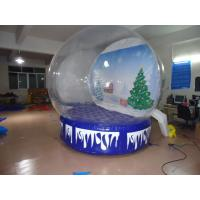 Quality Transparent Inflatable Advertising Products Christmas Snow Globe for sale