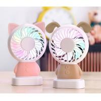 China LED handy chargeable mini electric fan, cute cartoon handy mini stand electric fan, portable mini stand electric fan on sale