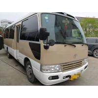China 1HZ Diesel Engine Toyota Used Coaster Bus 30 Seats Manual Gear Box With AC on sale