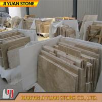 Beige Yellow Travertine Tiles French Pattern 2.7g/Cm3 Polished for sale