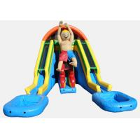 Wholesale Inflatable Doublelane Super Water Slide with Double POOL from china suppliers