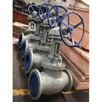 China 12 Inch Cast Steel Globe Valve Class 150  RF Flanged Globe Valve Worm Gear Operated ASME B16.34 on sale