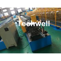 Wholesale 1.0-3.0mm Coil Thickness , PLC Frequency Control Guide Rail Cold Roll Forming Machine from china suppliers