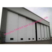 China Multi Sector Structural Hinged Doors Bottom Roller Sliding Hangar Door Smart Track Design for sale