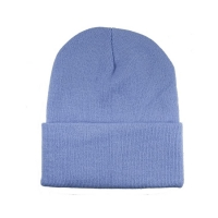 Wholesale Soft Warm Colorful 60cm Winter Knit Beanie With Woven Label from china suppliers
