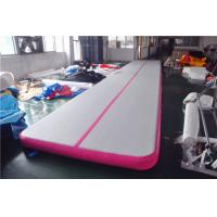 Quality Pink Small Blow Up Gymnastics Mat , Inflatable Tumble Track For Home for sale