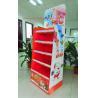 Wholesale Chocolate Cardboard Floor Display with steel bar under each shelf,bespoke Floor Display rack from china suppliers