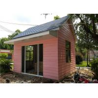 China EPS Sandwich Panel Roof Pink Cladding Prefab Steel House For Reception Room for sale