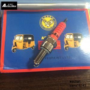 Wholesale BAJAJ 3 wheel Auto Spark Plugs , Car Engine Spark Plug TVS3W/C7E / B7C Orange Ceramic Black Nickel from china suppliers