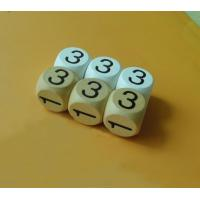 Wholesale white colored dice wood number dice 20mm wood game dice from china suppliers