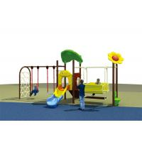 Flower Roof Small Swing Sets , Adjustable Single Swing And Slide Set