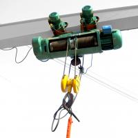 China 3m 220V 380V Electric Wire Rope Hoist , 1.5 Ton 2 Ton Wire Rope Hoist on sale