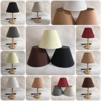 China fabric lampshade with linen for table lamp shade for sale
