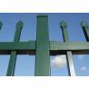Black pvc power coated welded security garrison fencing 2400mm x 2400mm preminum panels for sale