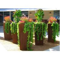 Wholesale Modern Style Large Corten Steel Planter Boxes For Outdoor Decoration 80cm Height  from china suppliers